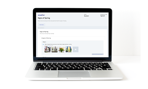 Sample image of laptop view of Scoutlier's Learning Platform
