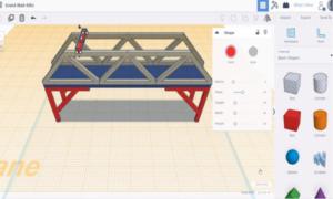 Tinkercad bridge simulation